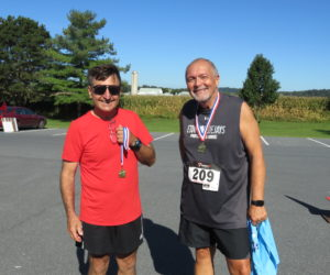 Champion 60-69 Runner Robert Eshleman & Champion 70+ Runner Robert Medeira