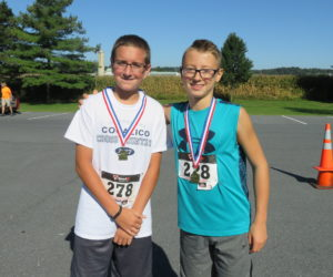 Male 14 & under winners - Colin Kneeper, Kaden Lehman, Alex Wiest